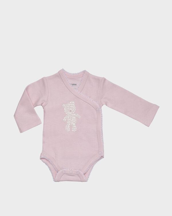 BODY M/L ALGODON ROSA OSITO - Prenatal 2