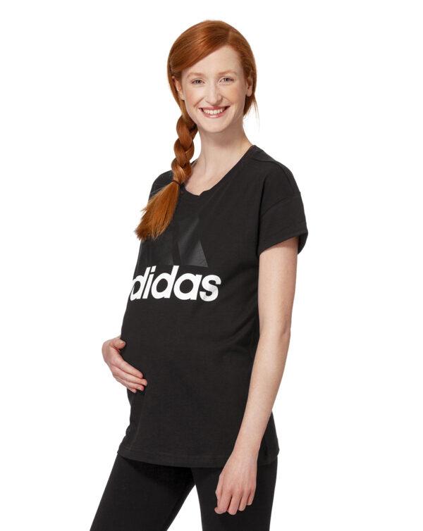 "CAMISETA NEGRA LOGO ""ADIDAS"" BLANCO - Prenatal 2"