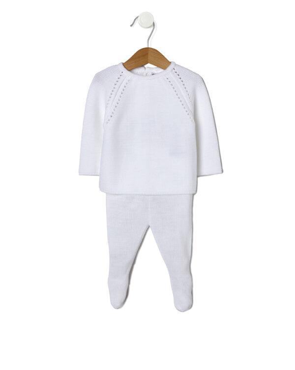 CONJUNTO TRICOT BLANCO CON POLAINAS - Prenatal 2