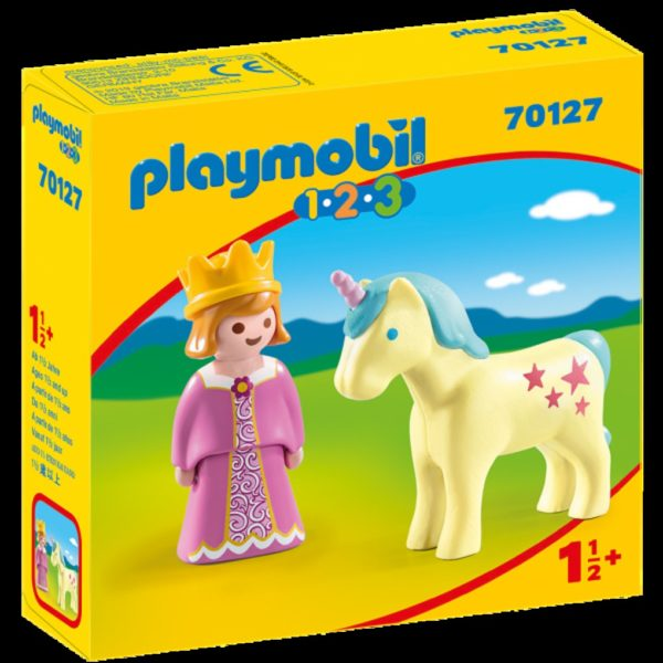 PRINCESA CON UNICORNIO 1.2.3 - Playmobil