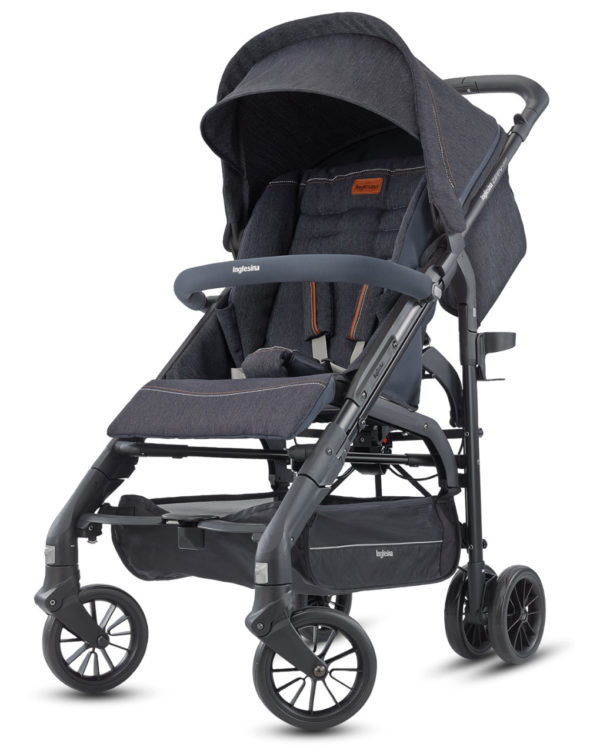 SILLA PASEO ZIPPY LIGHT RAIN NERO VILLAGE DENIM - Inglesina