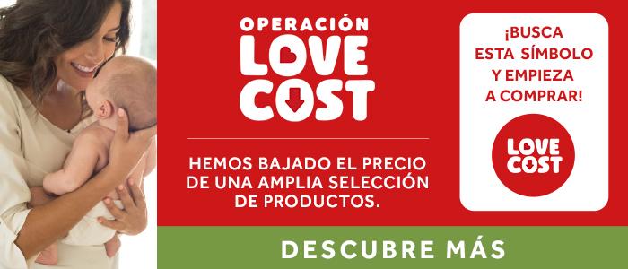 Alimentación y Lactancia Love Cost banner promozional