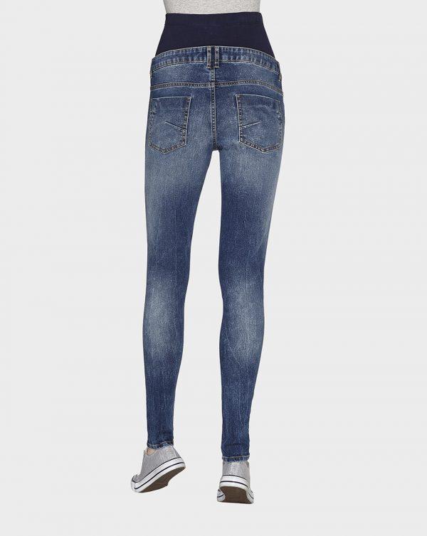 Pantalones vaqueros efecto desgastado skinny - Prénatal