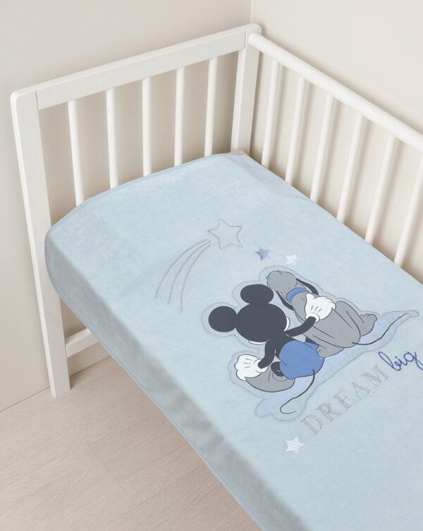 Manta de chenilla con parche de Mickey Mouse - Prénatal