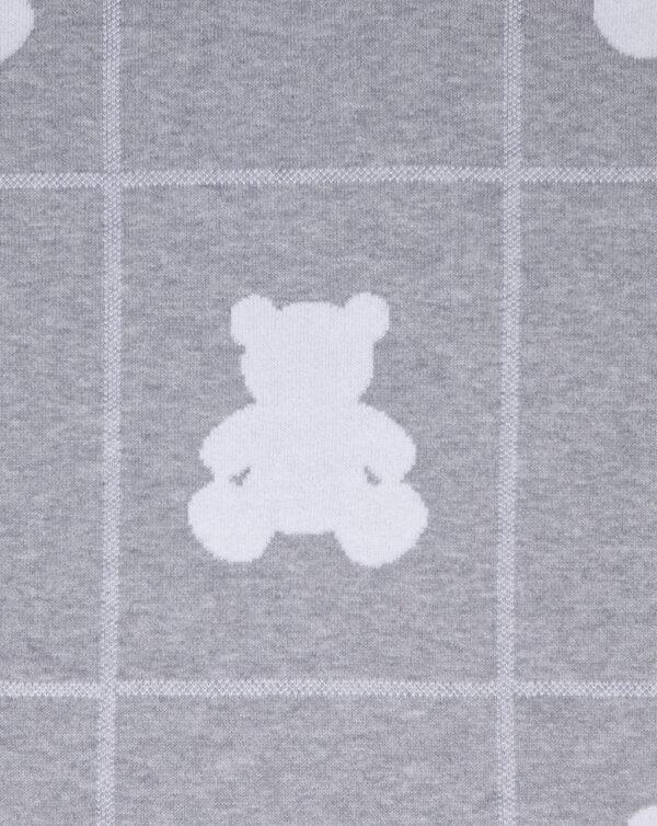 Manta de punto gris y gris claro con osos - Prénatal