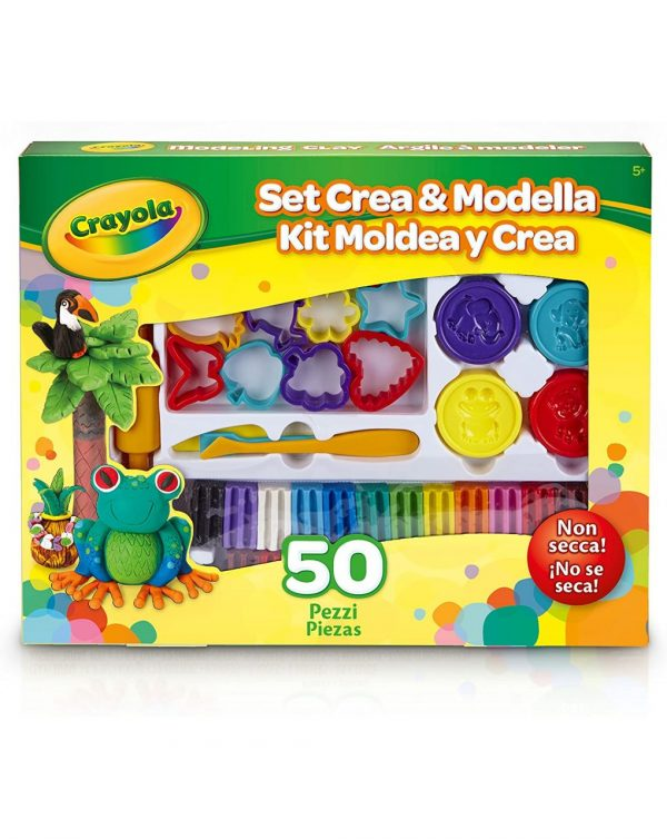 SET CREA & MODELLA 50 PZ - Crayola
