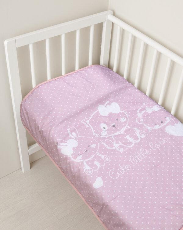 Colcha acolchada rosa - Prenatal 2