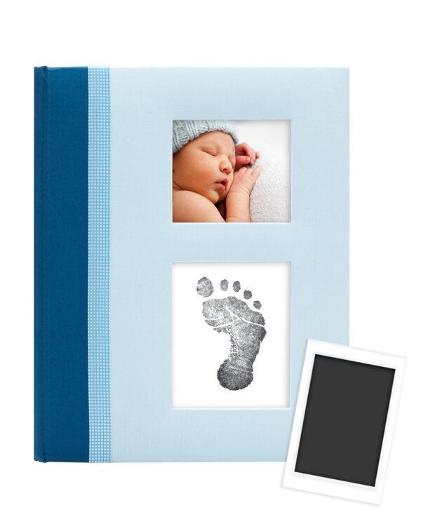 CHEVRON BABY BOOK BLUE - Pearhead