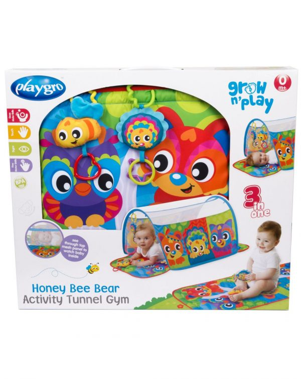 HONEY BEE BEAR ACTIVITY TUNNEL GYM - Playgro
