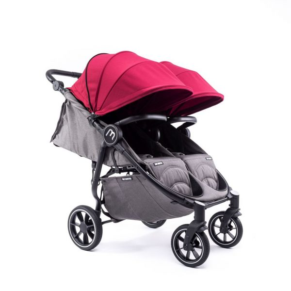 SILLA GEMELAR EASY TWIN 4 CHASIS BLACK CON BORDEAUX PACK COLOR - Baby Monsters