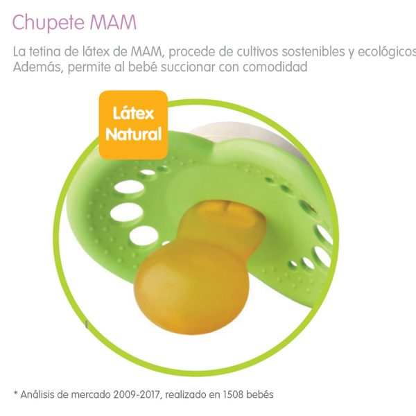 PACK 2 CHUPETES MAM ORIGINAL 6+ LATEX ROSA - Mam