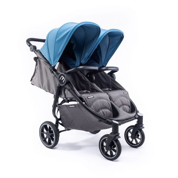SILLA GEMELAR EASY TWIN 4 CHASIS NEGRO CON ATLANTIC COLOR PACK - Baby Monsters
