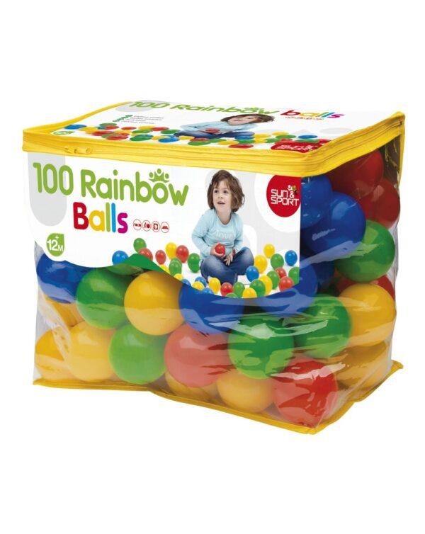 SACO CON 100 BOLAS DE PLASTICO SUAVE - Baby Smile
