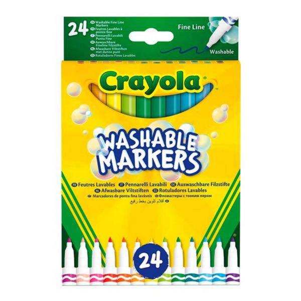 24 ROTULADORES DE PUNTA FINA SUPER LAVABLES - Crayola