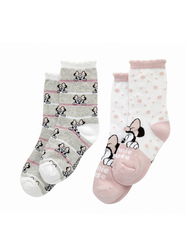 Pack de 2 pares de medias de Minnie