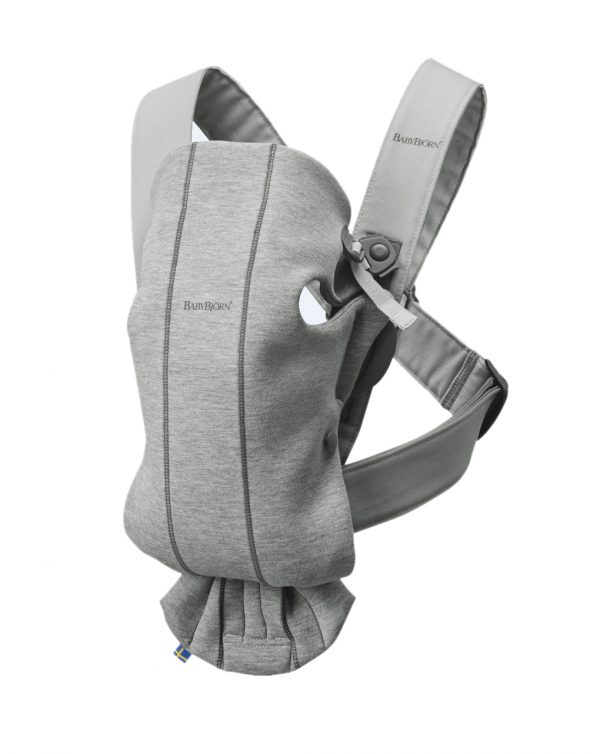 PORTA BEBÉ MINI LIGHT GREY 3D JERSEY - Baby Bjorn