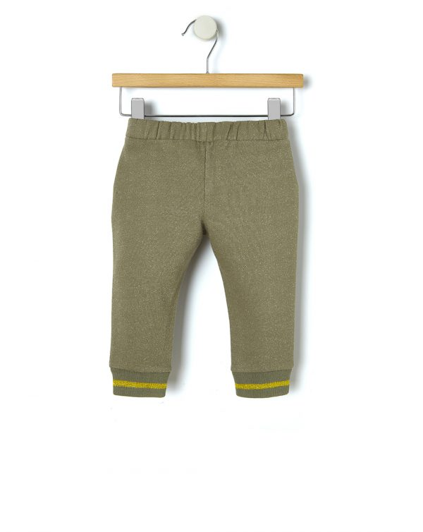 Pantalón de felpa con inserciones doradas - Prénatal