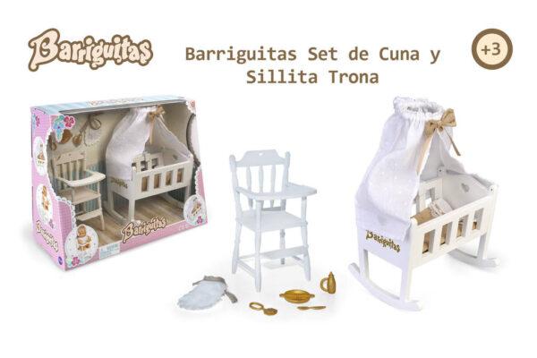 BARRIGUITAS. SET DE CUNA Y SILLITA TRONA - BARRIGUITAS