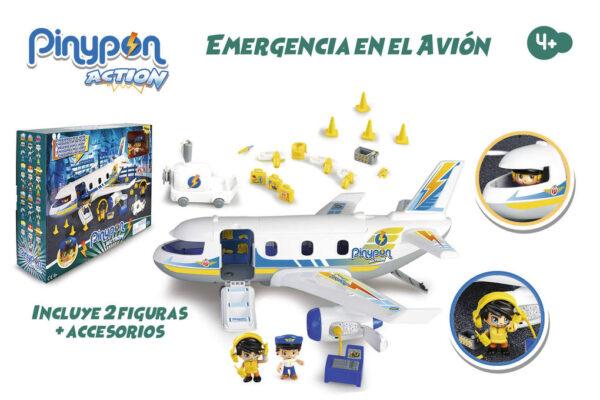 PINYPON ACTION. EMERGENCIA EN EL AVIÓN - Pinypon