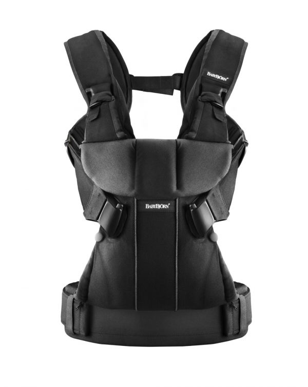 BABY CARRIER ONE  BLACK COTTON MIX - Baby Bjorn