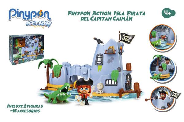 PINYPON ACTION. ISLA PIRATA DEL CAPITÁN - Pinypon