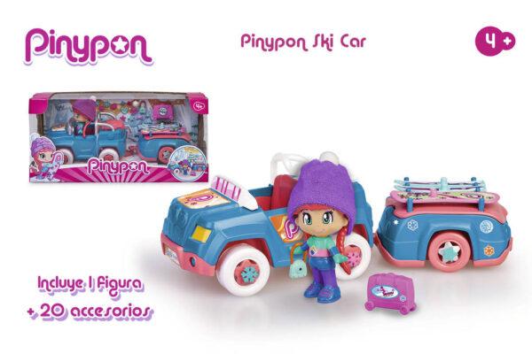 PINYPON. COCHE NIEVE CON REMOLQUE - Pinypon