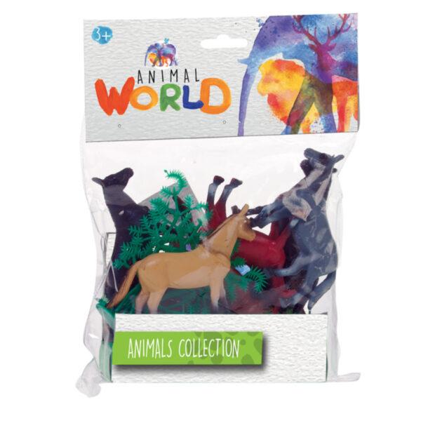 BOLSA CON 6 ANIMALES - Animal World