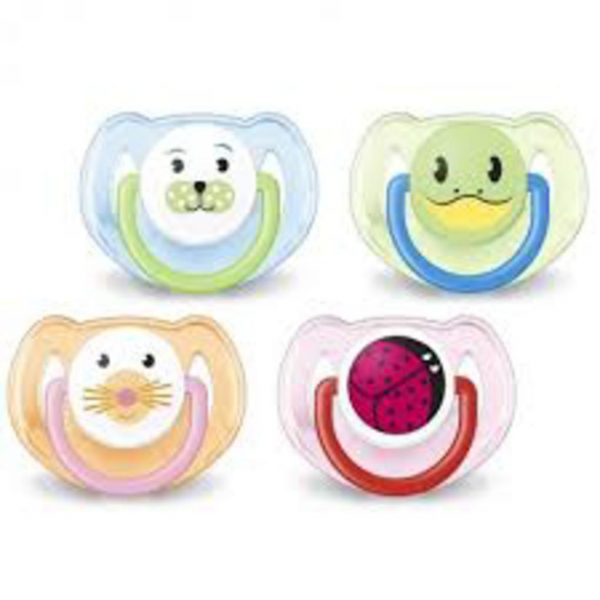 PACK 2 CHUPETES SILICONA 6-18 MESES ANIMALES - Avent