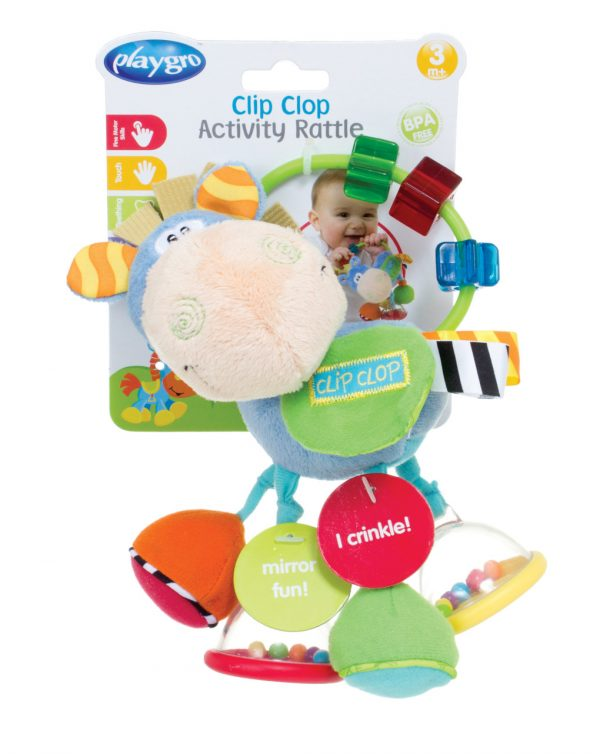 ACTIVITY RATTLE CLIP CLOP (3m+) - Playgro