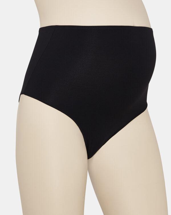 Pack de 2 braguitas de cintura alta de microfibra negra - Prenatal 2