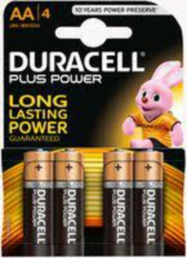 PACK 4 BATERÍAS AA (LR6) PLUS POWER - Duracell