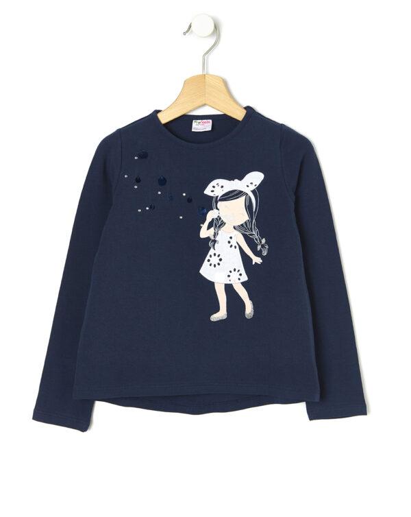 Camiseta con estampado de niña e inserciones - Prénatal