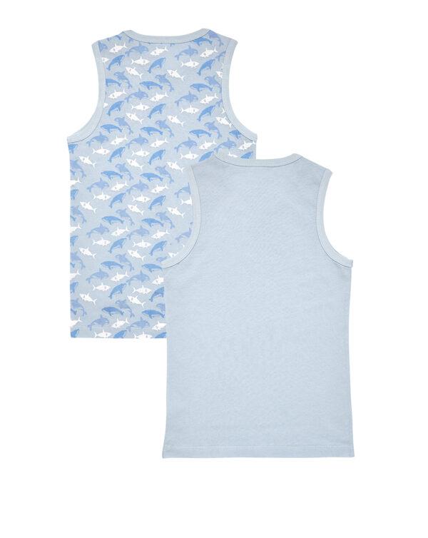 Pack 2 camisetas de tirantes con estampado de tiburones - Prénatal