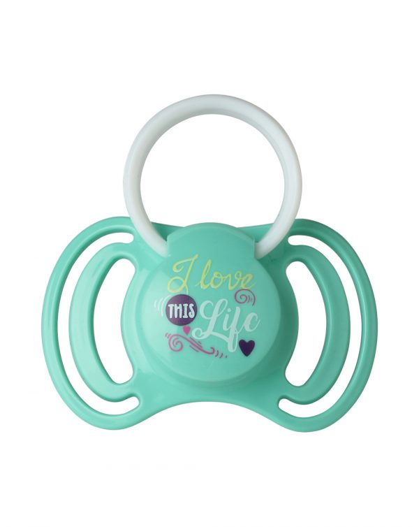 """PACK 2 CHUPETES  SILICONA 0-6M CON ANILLA """"LOVE IS IN THE AIR"""" - That's Love"""