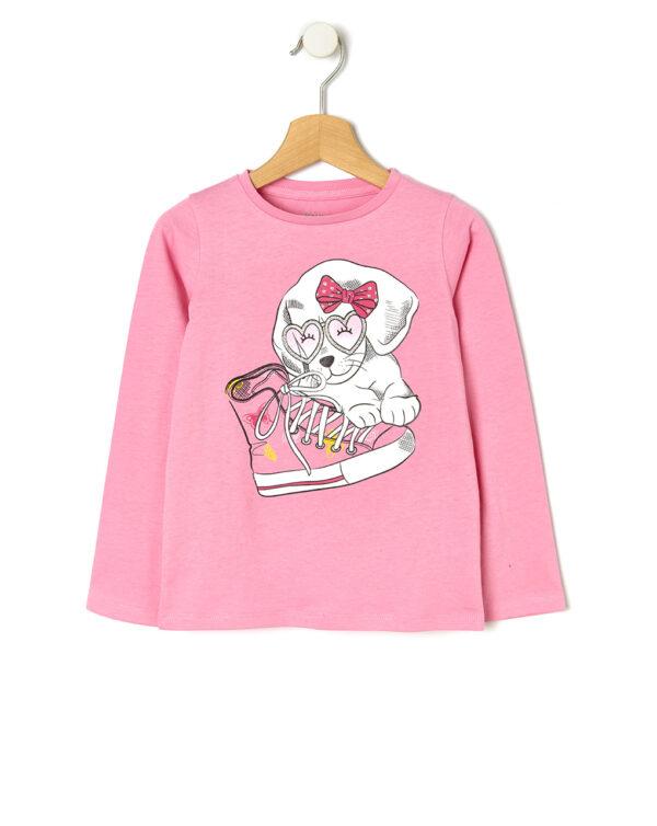 Camiseta básica con estampado de purpurina - Prénatal