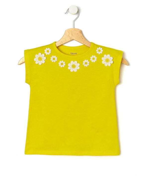 Camiseta con margaritas aplicadas - Prénatal