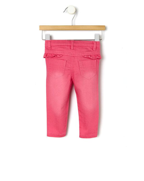 Pantalones de denim con fruncidos
