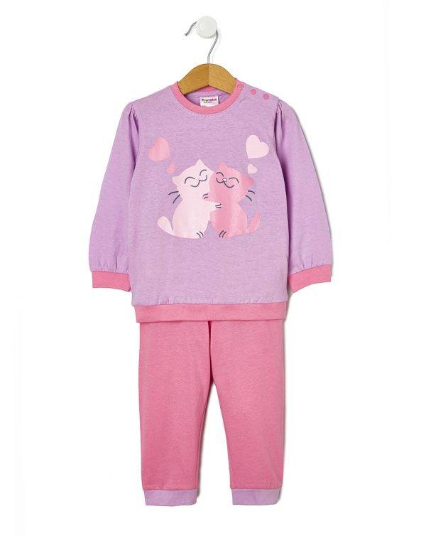 Pijama con estampado gato - Prénatal