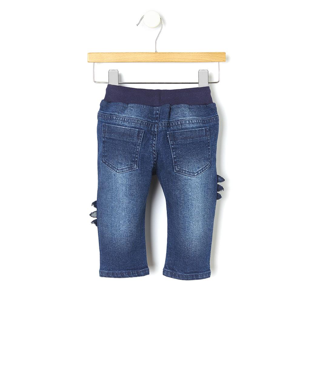 Pantalones De Denim Con Parches De Dinosaurios Prenatal Store Online