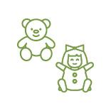 Muñecas y peluches