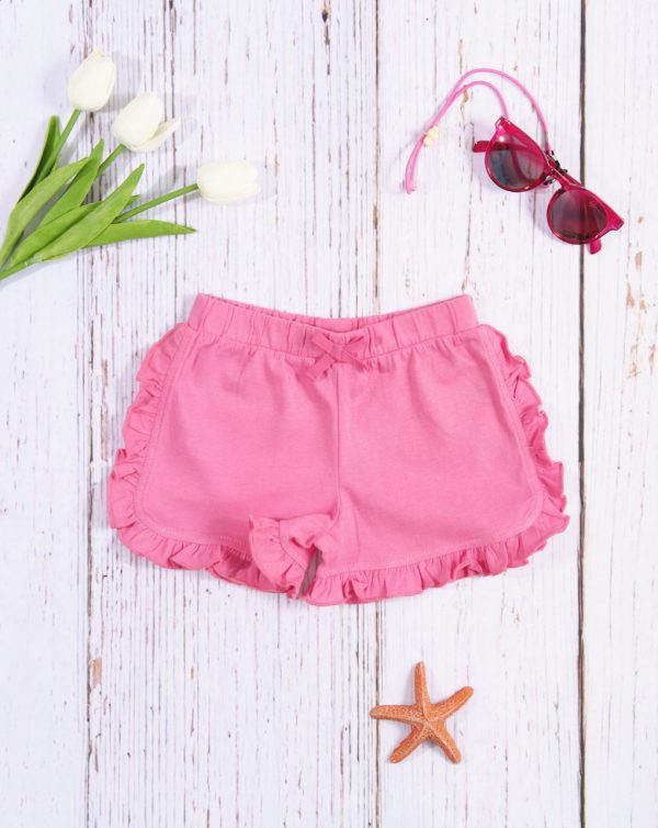 «Shorts» de niña rosa liso - Prénatal