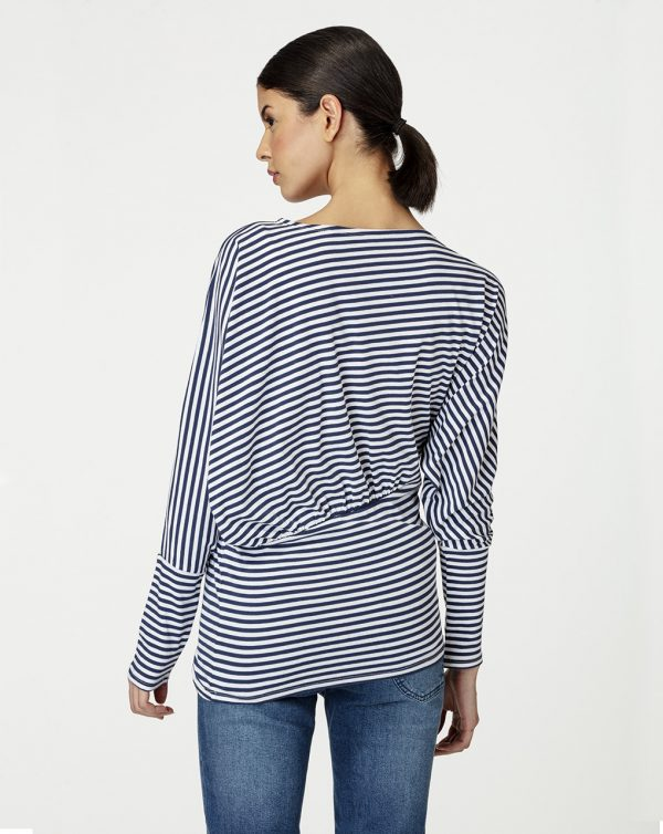 Blusa premamá con estampado de rayas horizontales - Prénatal