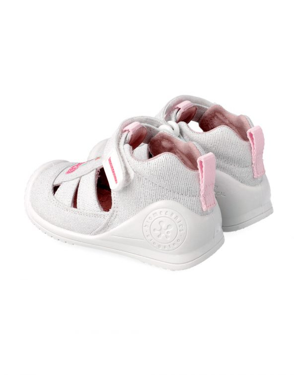Sandalias de tiras de tejido brillante con dibujo - Biomecanics