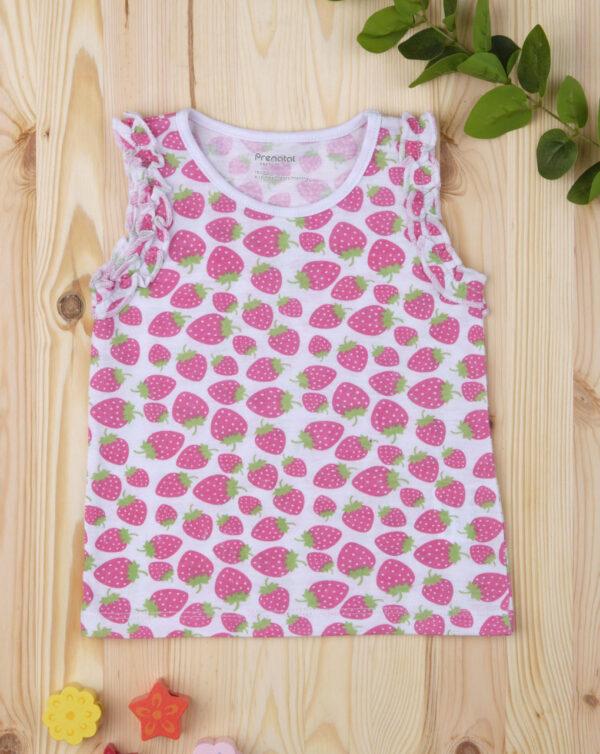 """Camiseta de tirantes de niña con estampado allover """"Fresas"""" - Prénatal"""