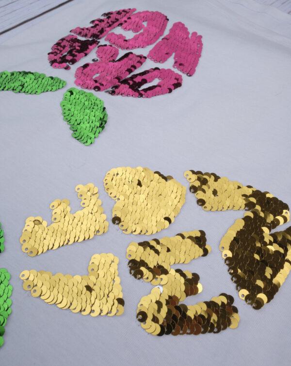 "Camiseta con lentejuelas reversibles ""lemon&orange"" - Prénatal"