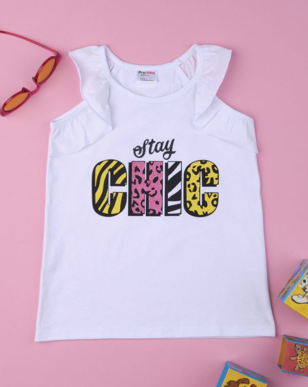 """Camiseta de tirantes de niña """"Stay Chic"""" - Prénatal"""