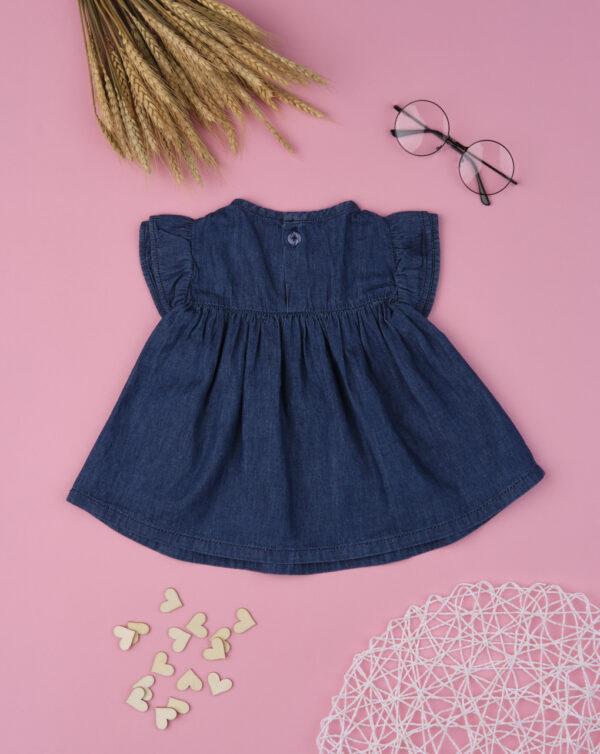 Camisa de tejido «chambray» de niña con florecitas - Prénatal