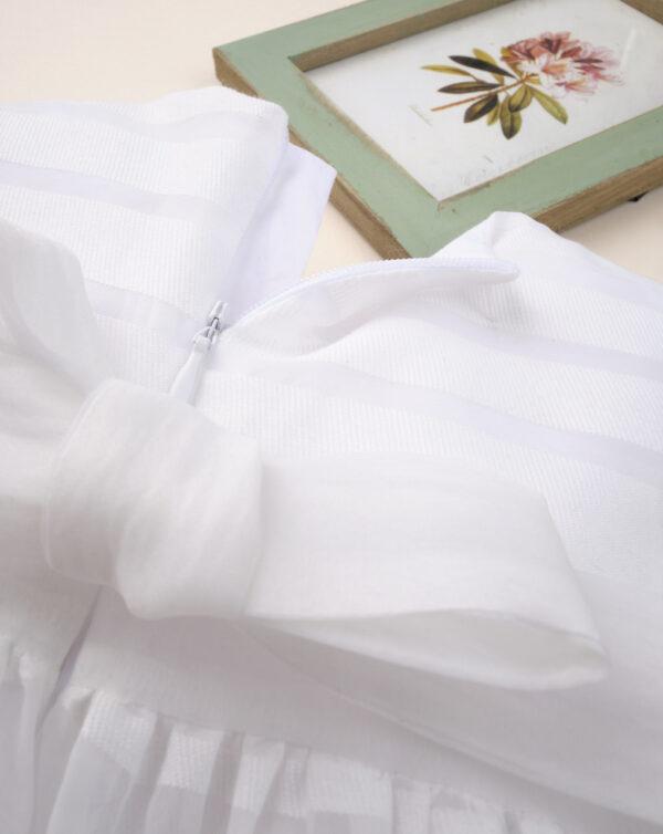 """Vestido de ceremonia de niña """"estriado blanco"""" - Prenatal 2"""
