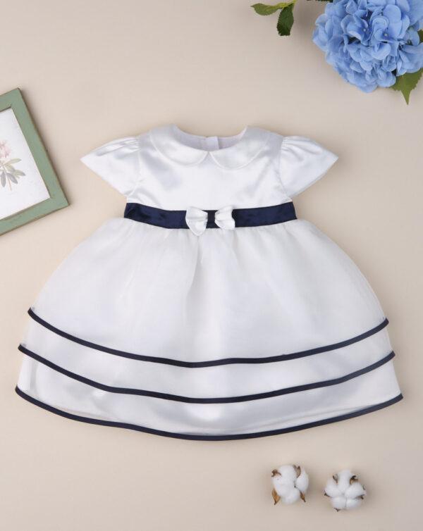 """Vestido de ceremonia de niña """"Azul y Blanco"""" - Prenatal 2"""