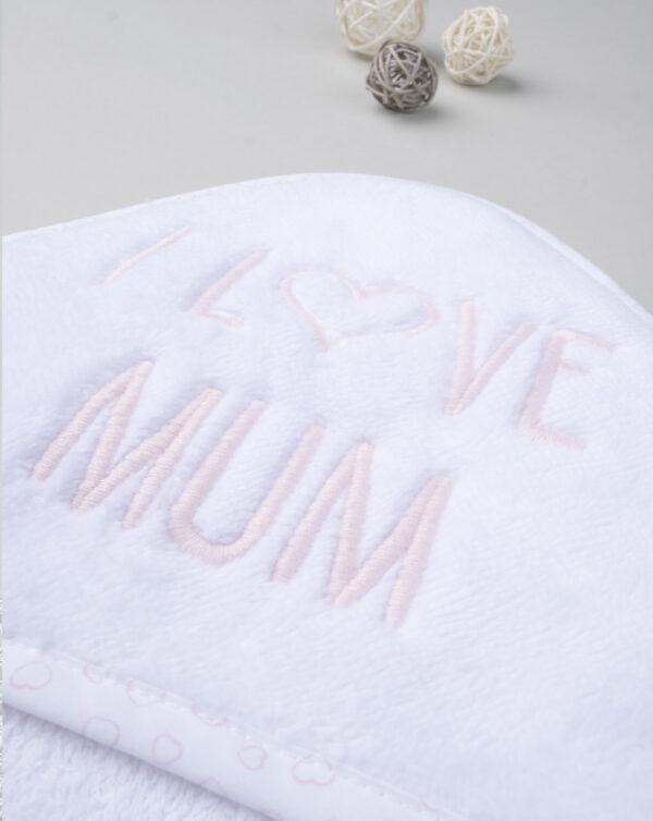 """Albornoz y zapatillas """"I love Mum"""" - Prénatal"""